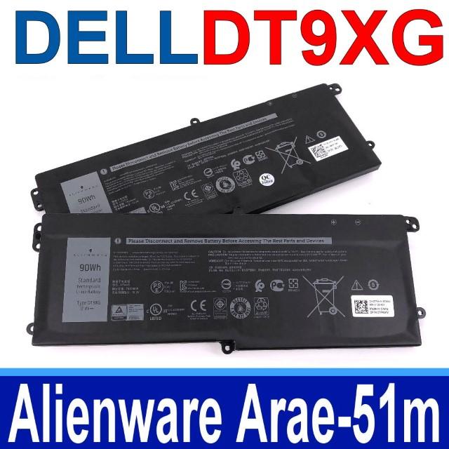DELL DT9XG 3芯 戴爾 電池 07PWXV Alienware  Area 51m i9-9900K RTX 2080
