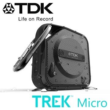 TDK TREK Micro A12 防水防震隨身藍芽喇叭(黑色)