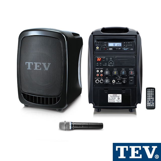 TEV  DVD/CD/USB/SD單頻無線擴音機 TA330D-1