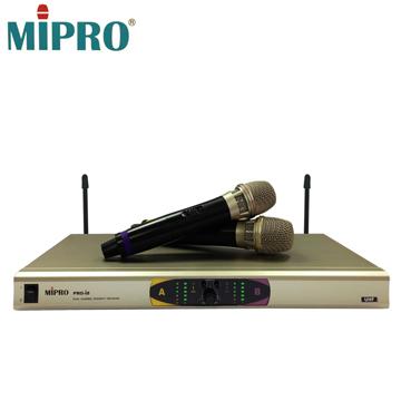 【MIPRO UHF】雙頻道自動選訊無線麥克風(PRO-I8)