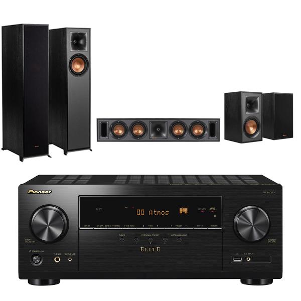 Pioneer VSX-LX104-B 7.2聲道 AV環繞擴大機+Klipsch R-610F+R-34C+R-41M 五聲道劇院組