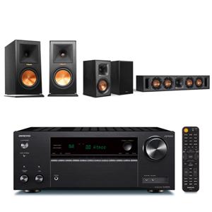 ONKYO TX-NR595  7.2聲道擴大機+Klipsch RP-160M+R-34C+R-41M