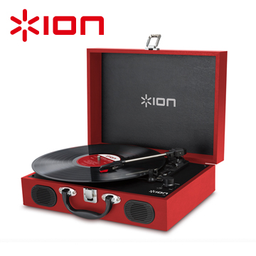 ION Audio Vinyl Transport手提黑膠唱機 - 紅色款-(福利品)