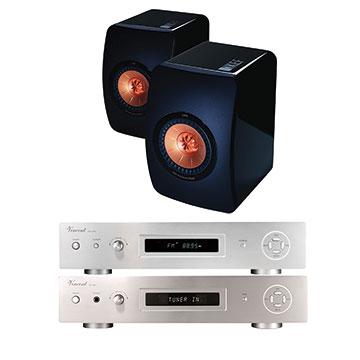 德國VINCENT CD-400+SV400  +KEF  LS50 書架音響組
