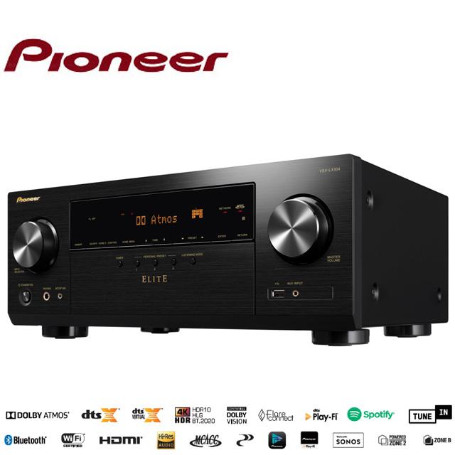 送4K專用2.0版HDMI線Pioneer先鋒 ELITE7.2聲道 AV環繞擴大機VSX-LX104(B)