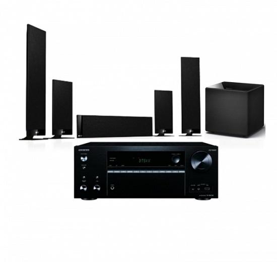 KEF T205 5.1聲道超薄型家庭劇院+ONKYO 7.2聲道擴大機
