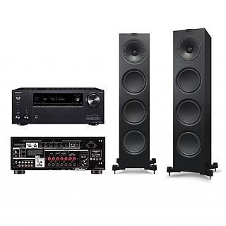 KEF Q950直立式揚聲器+ONKYO TX-NR696 7.2聲道環繞擴大機