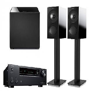英國 KEF R3 Gloss Black+ONKYO TX-NR595 7.2聲道+KEF 英國 超重低音揚聲器