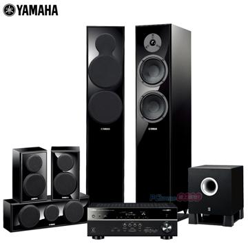 山葉 YAMAHA 舒伯特5.1聲道家庭劇院組-鋼烤黑 (RX-V481+NS-150系列6件式喇叭組)