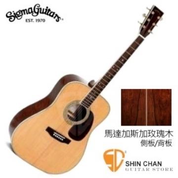 【源自Martin製琴工藝】 Sigma DMR-4 馬達加斯加玫瑰木/雲杉面單板  民謠吉他41吋附贈吉他袋
