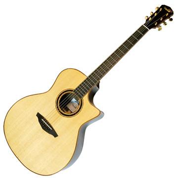 VEELAH V6-GAC 前後單板民謠木吉他 原木色