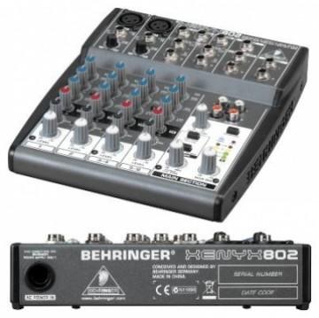 德國Behringer 8軌混音器XENYX 802