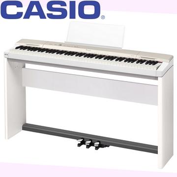 『CASIO 卡西歐』PX-160GD Privia數位鋼琴★含琴架、三腳踏、琴椅★贈耳機、琴罩、保養組★公司貨