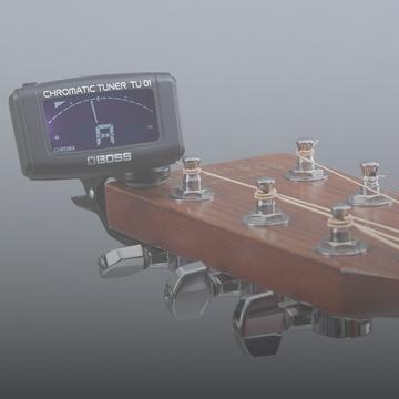『BOSS』TU-01 小巧易用的電子夾式調音器 / 黑色 ROLAND公司貨