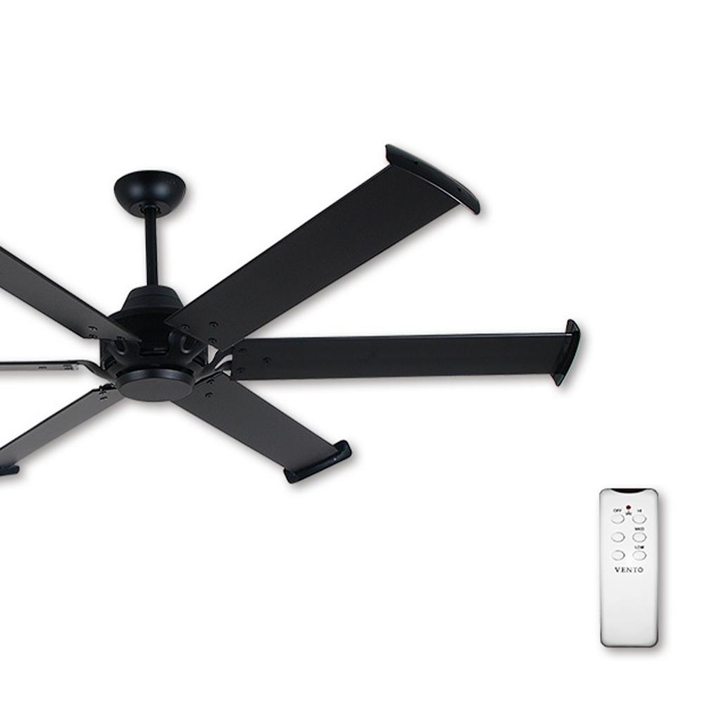 阿拉斯加 工業風吊扇MEGA 72吋(遙控)-黑色