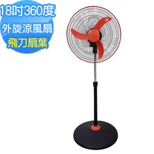 Lapolo 18吋 360度擺頭 三段風速立扇 電風扇 涼風扇 飛刀型扇葉 風力大 台灣製 FT-1803