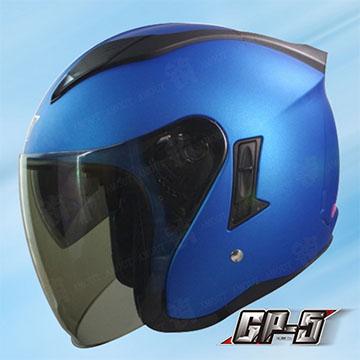 【GP-5 223 素色】安全帽 3/4罩 高階帽│強耐刮鏡片│內襯全可拆│內置型遮陽鏡片│空氣風洞散熱設計