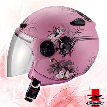 【ZEUS瑞獅 ZS-210B DD2 花卉彩繪】3/4罩安全帽|內襯全可拆