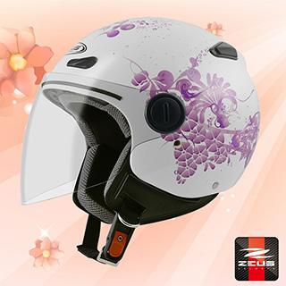 【ZEUS瑞獅 ZS-210B DD79 花卉】3/4罩安全帽 內襯全可拆