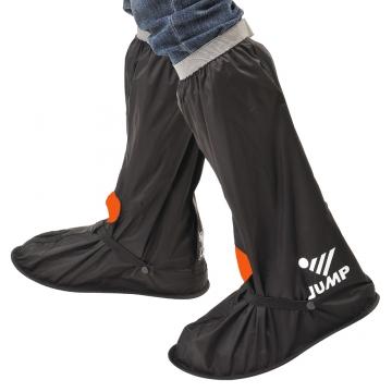 【JUMP】尼龍反光安全鞋套L001(黑橘_M~3XL)