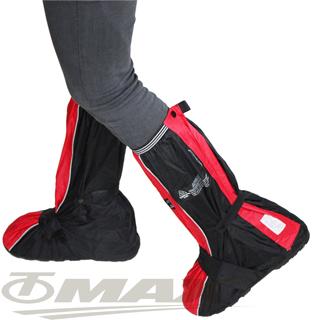天龍牌疾風賽車型強韌厚底雨鞋套-紅黑
