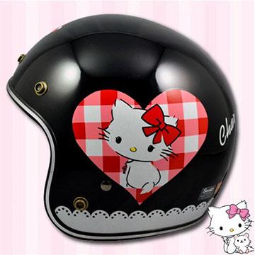 【正版授權 恰咪 凱蒂貓 愛心方塊 復古安全帽】三麗鷗│小頭款│日系可愛│騎士帽│charmmy kitty