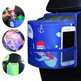 汽車用品椅背收納袋 升級款置物袋卡通雜物袋保溫袋垃圾桶