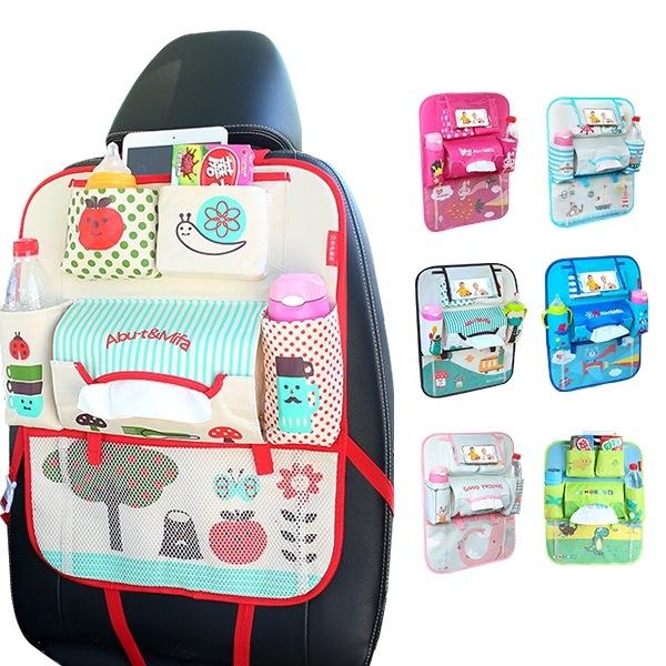 第三代車用椅背收納袋可放手機+平板 置物袋汽車雜物