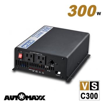 AutoMaxx ★  VSC300 12V 300W 多功能正弦波電源轉換器[ 12V→110V ] [ 7A太陽能充電控制器 ] [ 5A交流充電器 ] [ UPS...