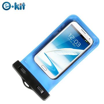 逸奇 e-Kit  手機專用防水袋10米保護套  SJ-P068藍色 (附魔鬼氈臂帶)