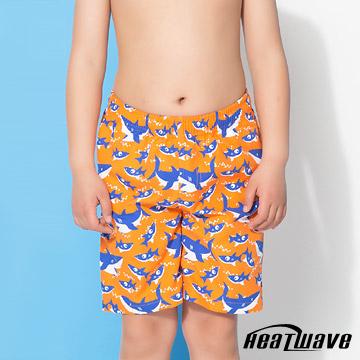 Heatwave熱浪 童海灘褲 橘藍鯊-D011