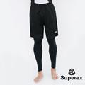 Superax SM-5 男款透氣假兩件運動緊身褲 籃球褲 黑色