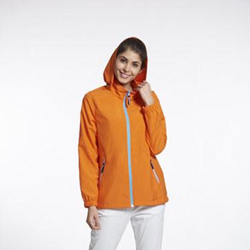 Sunrise橘色輕薄透氣外套中性款-99329