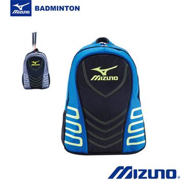 Mizuno 美津濃 羽球包 雙肩包 旅行包 (黑x藍x綠) 63DD540003