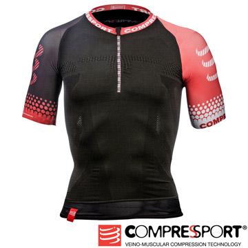 瑞士Compressport運動機能壓縮-短袖機能衣(黑)