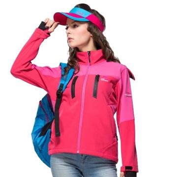 【日本SASAKI】DIN-TEX(女款)高彈力防水透濕功能夾克(附活動式帽子)