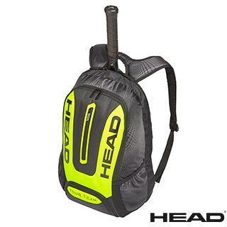 【HEAD】Tour Team Extreme Backpack 2支裝球拍袋/後背包-黑黃(網球/羽球/壁球拍可用)
