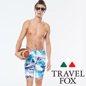 【TRAVELFOX 旅狐】 南洋風大男七分泳褲(C14920)
