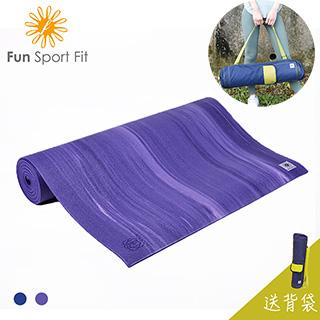 Fun Sport fit 海之旅-微醺浪潮瑜珈墊 8mm 【送瑜珈背袋】 (運動墊/體適能墊/瑜伽墊)