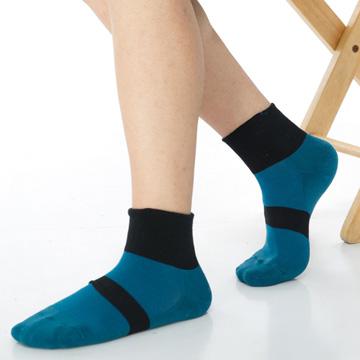 【KEROPPA】可諾帕無痕足弓運動機能男襪x2雙C98008土耳其藍