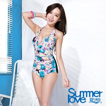 【SUMMERLOVE夏之戀】大女連身印花三角泳衣e16709