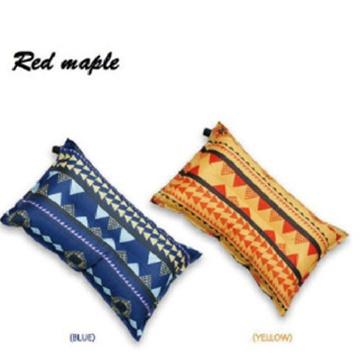 May Shop【CF1112】 復古民族風戶外野營用品自動充氣枕露營便攜枕頭帳篷枕汽車休閒枕