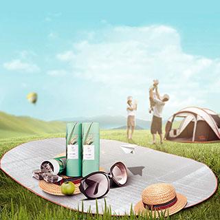 【XINCHANG】大-防潮墊 野餐墊( 戶外 露營 爬山 郊遊 )