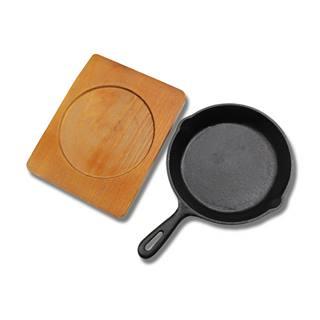 台灣精製圓形21cm鑄鐵烤盤