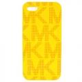 MICHAEL KORS 滿版點點MK iPHONE 5手機殼(黃)