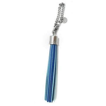 agnes b.雙色流蘇造型吊飾(藍/水藍)