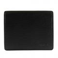agnes b.仿樹壓紋薄型ID卡(黑)