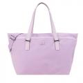 agnes b.壓克力皮革飾邊兩用包-小/粉紫