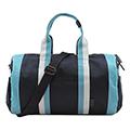 agnes b.雙色雙槓波士頓旅行袋(大/藍)