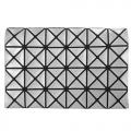 ISSEY MIYAKE 三宅一生 BAOBAO  4x6金屬幾何方格票卡包(銀色)
